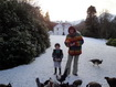 Self catering 5 star Isle of Arran - Feeding the chickens